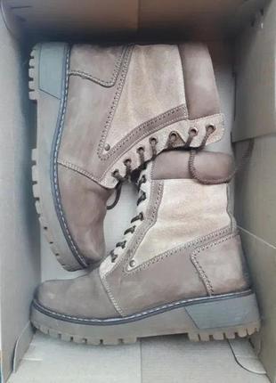 Замшевые зимние ботинки, 36-37 размер