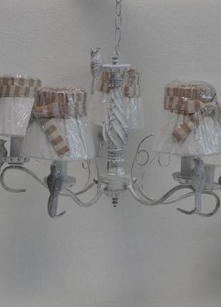Люстра с птичками на 5 плафонов