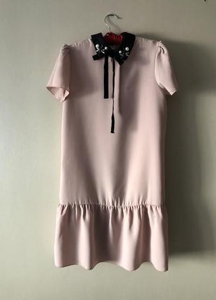 Новое! пудровое платье mango