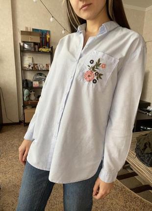 Рубашка прямого кроя. удлиненная рубашка оверсайз