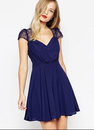 ❤️шикарное новое платье шифон кружево❤️