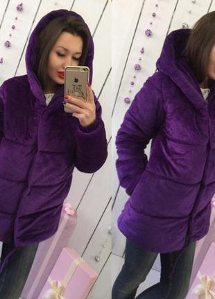Куртка бархатная s m зефирка плюшевая велюр курточка велюровая пальто синтепон