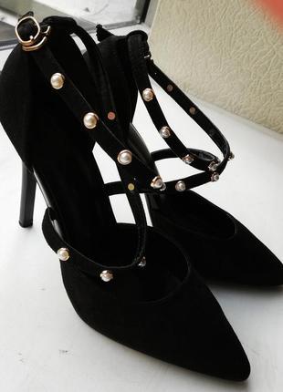 Туфли женские экозамша4 фото