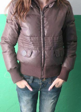 Теплая куртка на утином пуху