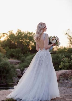 Свадебное выпускное платье galina krasnova