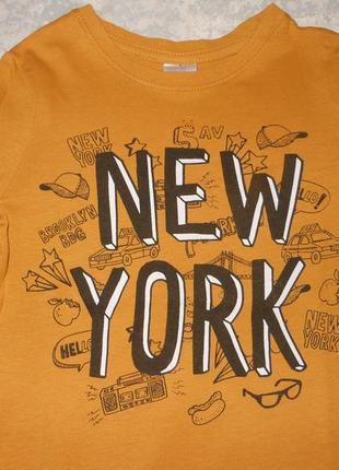 Крутой лонгслив с принтом new york/реглан/кофта/футболка с длинным рукавом/110/104