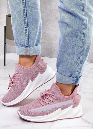 Женские текстильные кеды кроссовки