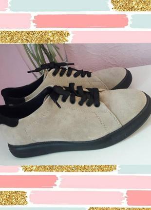 Стильные натуральные замшевые туфли/мокасины❤