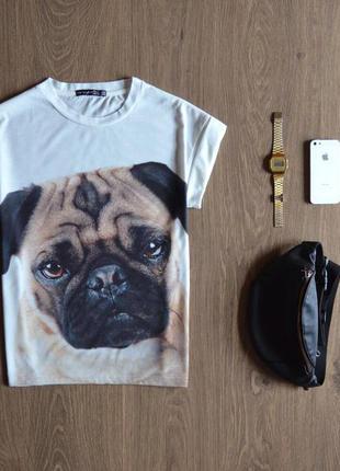 Дуже мила футболка з мопсом atmosphere