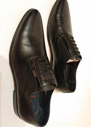Мужские классические туфли basconi 42р, кожа, под кожу рептилии