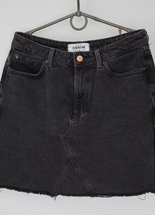 Джинсовая юбка new look дорогой серый цвет2 фото