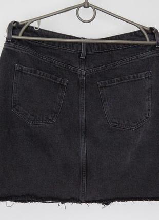 Джинсовая юбка new look дорогой серый цвет4 фото