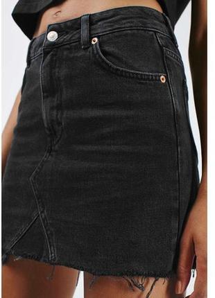 Джинсовая юбка new look дорогой серый цвет