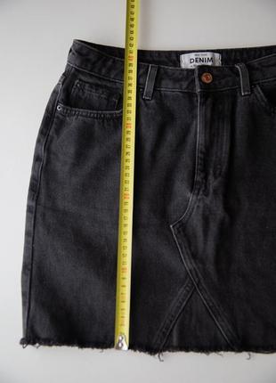 Джинсовая юбка new look дорогой серый цвет3 фото