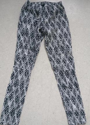 Хлопковые штаны с ромбовидным принтом
