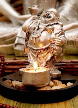 Сувенир буддийский  хотей + подсвечник