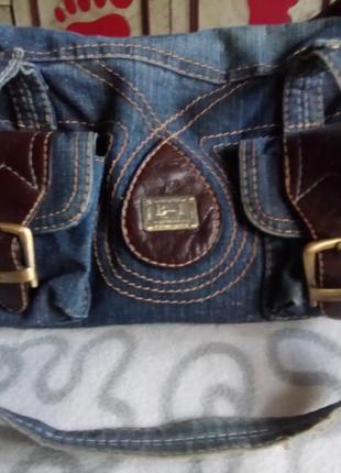 Сумка джинсовая1 фото