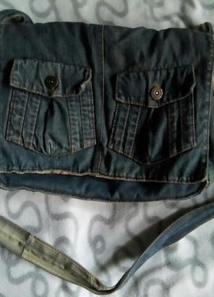 Сумка джинсовая
