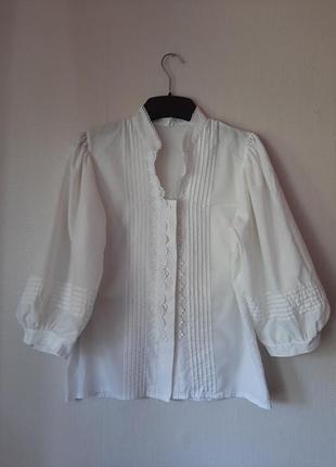 Хлопковая винтажная блуза