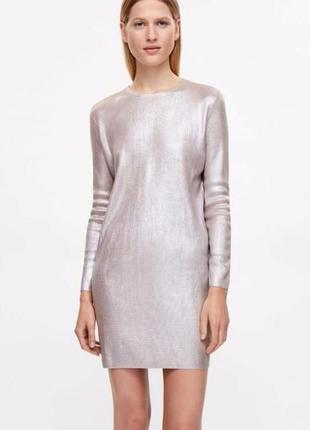 Потрясающее вискозное платье с напылением цвета пудры от cos из новой коллекции