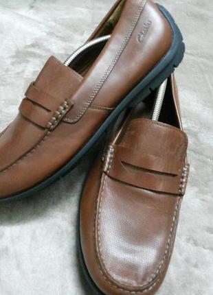 Туфли,мокасины кожаные муж. 44,5р.clarks вьетнам