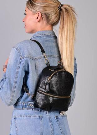Стильный рюкзак - сумка эко кожа 264225 black