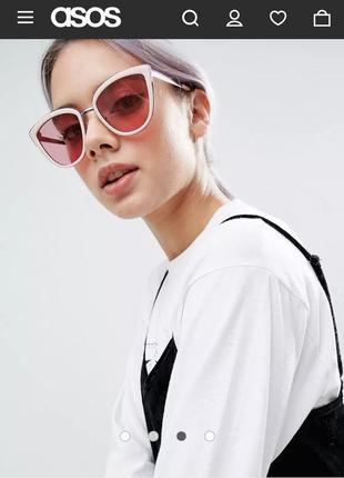 Солнечные очки кошачий глаз asos
