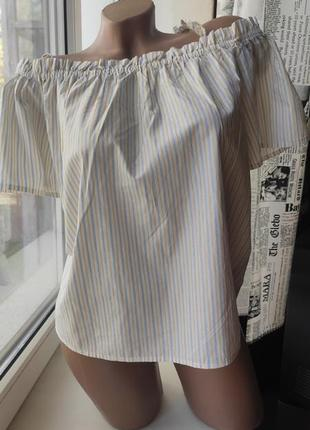 Рубашка , блуза открытые плечи