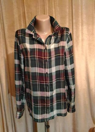 Женская рубашка в клетку samsoe&samsoe размер s, m,l