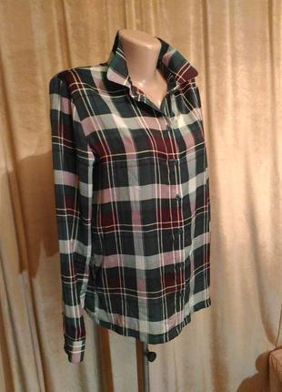 Женская рубашка в клетку samsoe&samsoe размер s, m,l3 фото