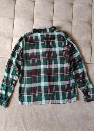 Женская рубашка в клетку samsoe&samsoe размер s, m,l10 фото