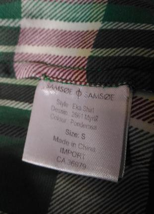 Женская рубашка в клетку samsoe&samsoe размер s, m,l7 фото