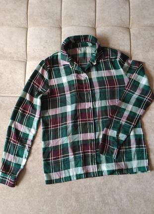 Женская рубашка в клетку samsoe&samsoe размер s, m,l9 фото