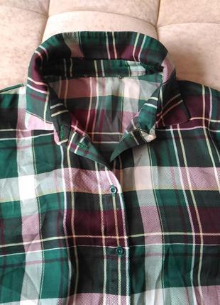 Женская рубашка в клетку samsoe&samsoe размер s, m,l6 фото