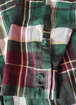 Женская рубашка в клетку samsoe&samsoe размер s, m,l8 фото