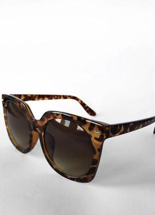 Квадратные солнцезащитные очки/черепаховый цвет/леопардовый цвет