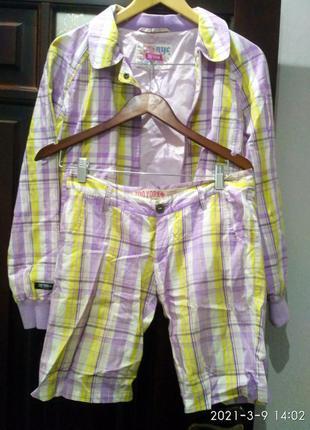 Костюм куртка ветровка шорты zoo york