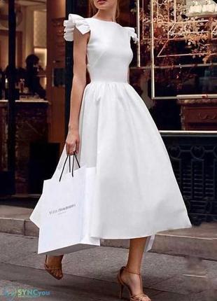 Элегантное белое платье2 фото