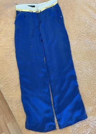 Летние брюки gucci, брюки широкие прямого кроя