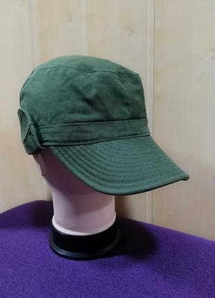 Стильная катоновая кепка, хаки.7 фото