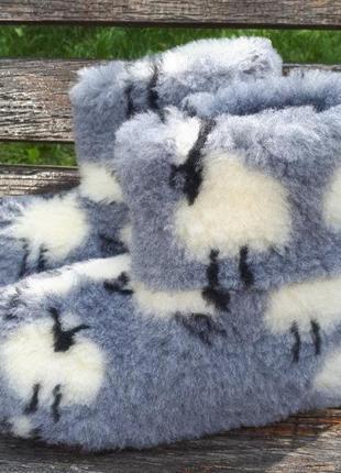 Чуни из овчины с рисунком 36-451 фото