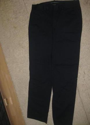 Стильные базовые темносиние офисные штаны брюки слим стрейчевые ralph lauren golf