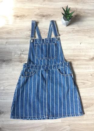 Нереальный джинсовый сарафан от h&m новый с биркой комбинезон