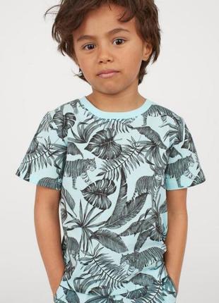 Новая футболка для мальчика с тропическим принтом h&m