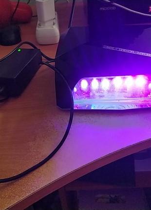 Лампа для сушки гель лака diamond з сенсором черная 36w