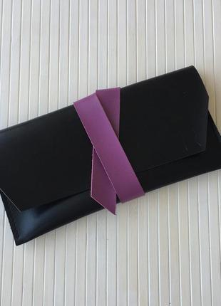 Клатч з натуральної шкіри, hand made; сумка