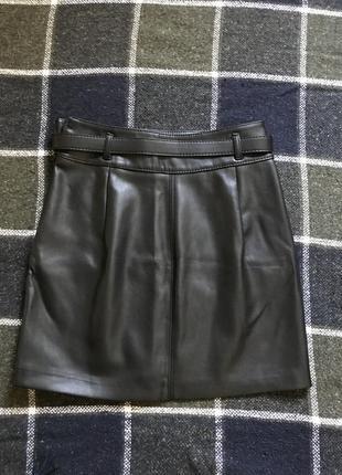 Кожаная юбка3 фото
