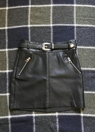 Кожаная юбка2 фото