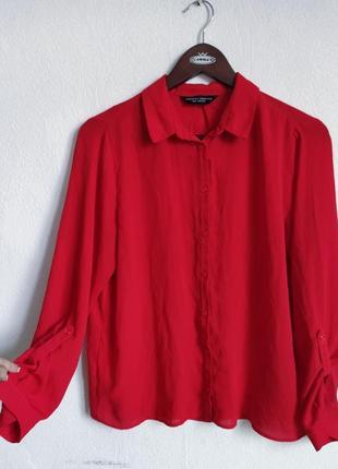 Шикарная шифоновая блуза рубашка