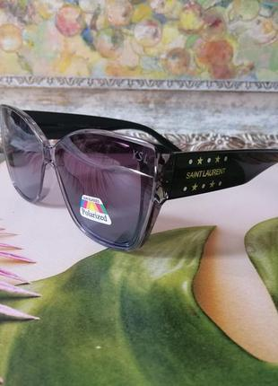 Эксклюзивные солнцезащитные брегдовые женские очки с поляризацией